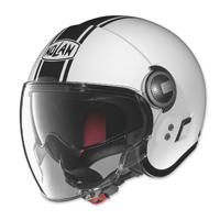 Nolan N21 Visor Duetto Gloss White/Black Open Face Helmet