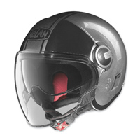 Nolan N21 Visor Duetto Scratched Chrome/Black Open Face Helmet