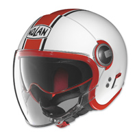Nolan N21 Visor Duetto White Gloss/Red Open Face Helmet