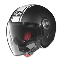 Nolan N21 Visor Duetto Flat Black/White Open Face Helmet