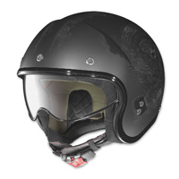 Nolan N21 Speed Junkie Scratched Asphalt Black Open Face Helmet