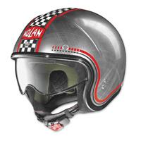Nolan N21 Lario Scratched Chrome Checker Open Face Helmet