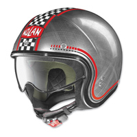 Nolan N21 Lario Scratched Chrome Checker Open Face Helmet