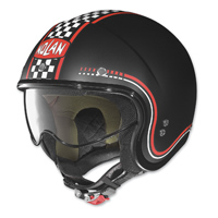 Nolan N21 Lario Flat Black Checker Open Face Helmet