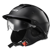 LS2 Rebellion Gloss Black Half Helmet