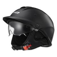 LS2 Rebellion Matte Black Half Helmet