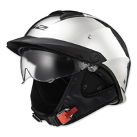 LS2 Rebellion Chrome Half Helmet