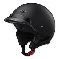 LS2 Bagger Matte Black Half Helmet