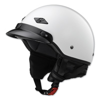 LS2 Bagger Pearl White Half Helmet
