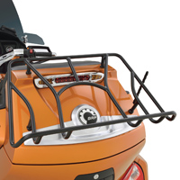 Show Chrome Accessories Satin Black Trunk Luggage Rack