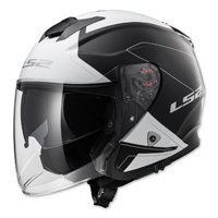 LS2 Infinity Beyond Black/White Open Face Helmet