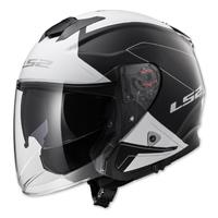 LS2 Infinity Beyond Black/White Open Face Helmet