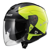 LS2 Infinity Beyond Hi-Vis Yellow Open Face Helmet