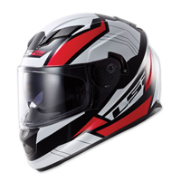 LS2 Stream Omega Red Full Face Helmet