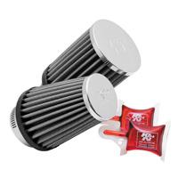 K&N Round Straight Universal Air Filter Chrome Top