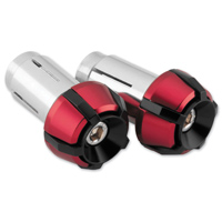 BikeMaster Red Two-Piece Anti-Vibration Bar Ends