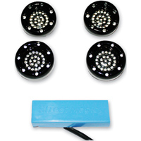 Custom Dynamics LED Black Bullet Ringz Turn Signal Kit