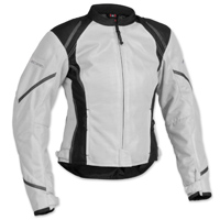 Firstgear Women's Mesh Tex Silver Jacket