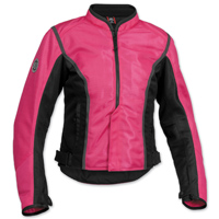 Firstgear Women's Contour Mesh Pink/Black Jacket