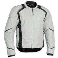 Firstgear Men's Mesh Tex Silver Jacket