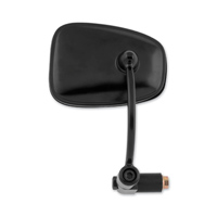 BikeMaster Black Archer Semi-Rectangle  Bar End Mirror