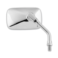 BikeMaster Chrome Universal Mini Mirror, Reverse Thread