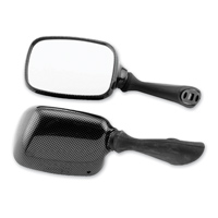 BikeMaster Carbon Fiber Look O.E.M. Replacement Mirrors, Left