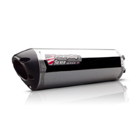 Two Brothers Racing Aluminum M-2 Silver Series Dual Slip-on Exhaust