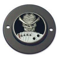 MotorDog69 Black 2-Hole Timing Cover Coin Mount with