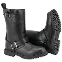 Black Brand Men's Thug Black Leather Boots