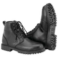 Black Brand Men's Stomper Black Leather Boots
