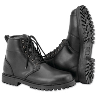 Black Brand Men's Stomper Black Leather Boots