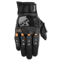 Black Brand Men's Mirror Buster Black Leather Gloves