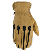 Black Brand Men's Retro Tan Leather Gloves
