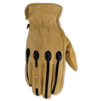 Black Brand Men's Retro Tan Leather Gloves