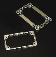 Russell Chain-style, chrome License Plate Frame
