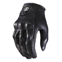 ICON Women's Pursuit Perforated Black Gloves