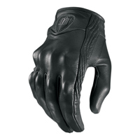 ICON Women's Pursuit Stealth Black Leather Gloves