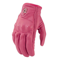 ICON Women's Pursuit Pink Leather Gloves