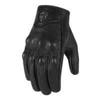 ICON Women's Pursuit Perforated Touchscreen Black Gloves