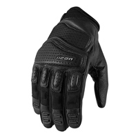 ICON Men's Super Duty 2 Black Leather Gloves