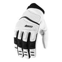 ICON Men's Super Duty 2 White Leather Gloves