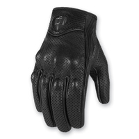 ICON Men's Pursuit Perforated Touchscreen Black Gloves