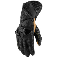ICON Men's Hypersport Pro Long Stealth Black Gloves