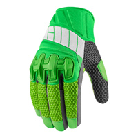 ICON Men's Overlord Mesh Green Gloves