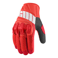 ICON Men's Overlord Mesh Red Gloves