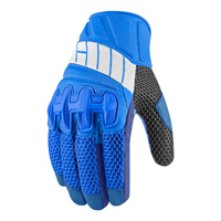 ICON Men's Overlord Mesh Blue Gloves