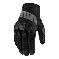 ICON Women's Overlord Stealth Black Mesh Gloves