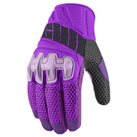ICON Women's Overlord Purple Mesh Gloves