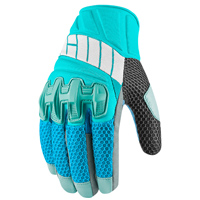 ICON Women's Overlord Blue Mesh Gloves